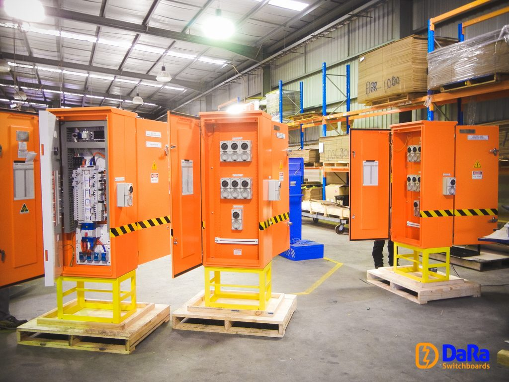 Temporary power switchboard for BHP Mooka OCRS project
